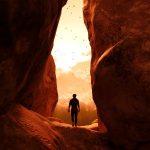 Kathleen Gleeson Counseling Iowa City Unresolved Loss canyon man silhouette