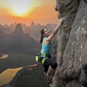 Kathleen Gleeson Counseling Iowa City Unresolved Loss cliff rock climber sunset